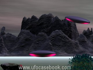 Depiction of UFOs