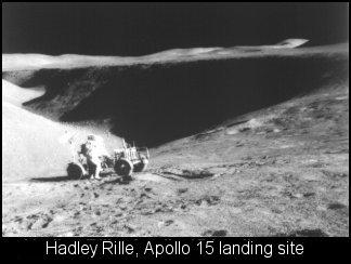 Hadley Rille, landing spot