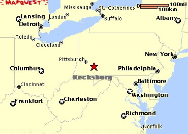 Kecksburg Map