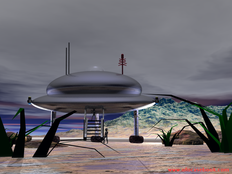 A landed UFO