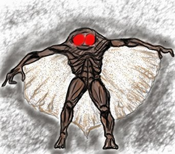 Mothman Depiction