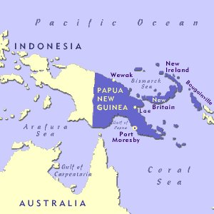 Papua, New Guinea Map
