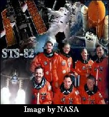 STS82 crew, image provided by NASA